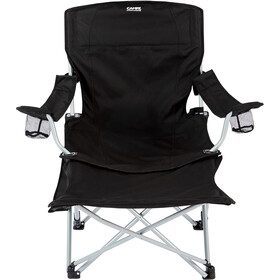 CAMPZ Lounger Folding Chair with Detachable Footrest black